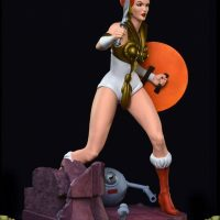 Masters of the Universe Teela PCS Exclusive Edition Statue Right Angle