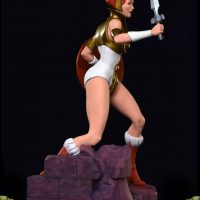 Masters of the Universe Teela PCS Exclusive Edition Statue Right Side