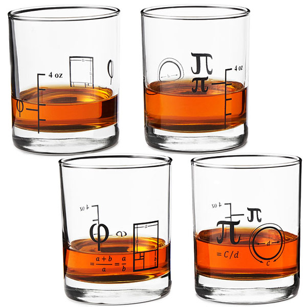 Math Wiskey Glasses