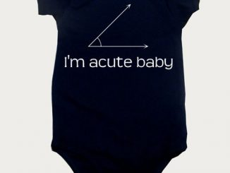 Math geek Onesie I'm acute baby