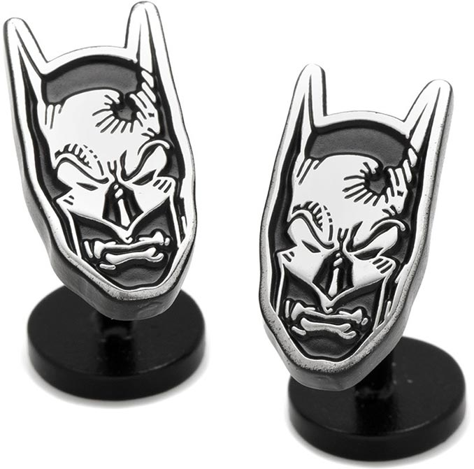 Matte Black Batman Mask Cufflinks