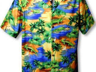 MauiShirts Alligator Hawaiian Shirt