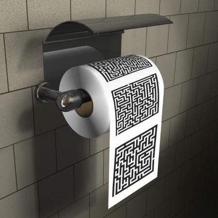 Maze Puzzle Novelty Toilet Paper