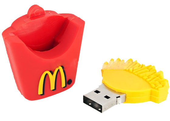 mcdonald 39 s french fries design usb flash drive. Black Bedroom Furniture Sets. Home Design Ideas