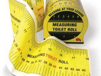 Measuring Tape Toilet Roll