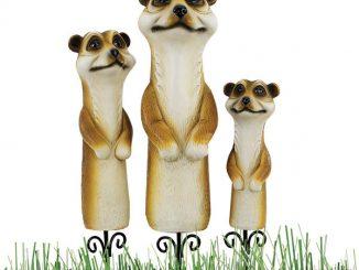 Meerkat Garden Stake Statues