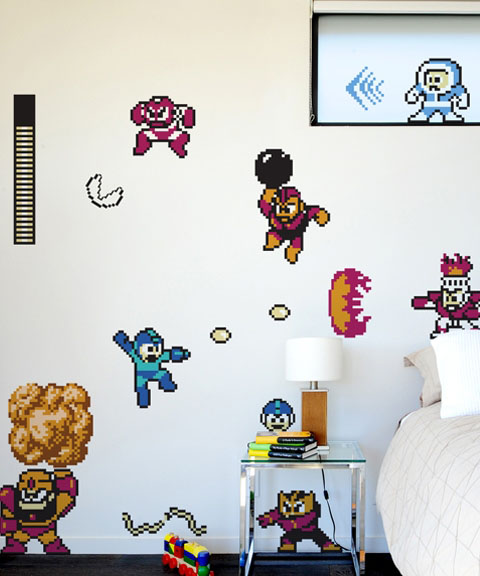 Mega Man Re Stik Wall Sticker