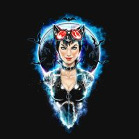 Meow at the Moon Catwoman Shirt