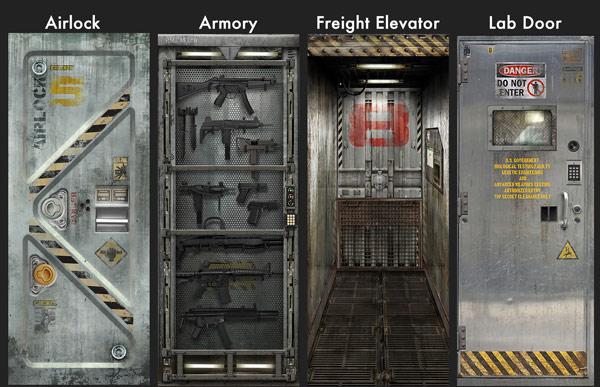 Metal Core Door Sticker Decals