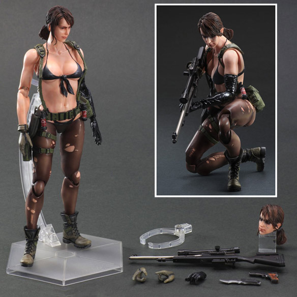 Metal Gear Solid 5 Phantom Pain Quiet Play Arts Kai Action Figure