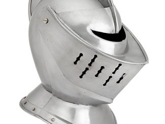 Metal 15th-16th Century Knight's Close Helmet Replica