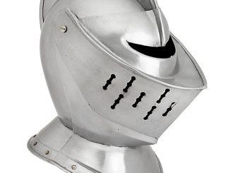 Metal 15th-16th Century Knight's Close Helmet Replica