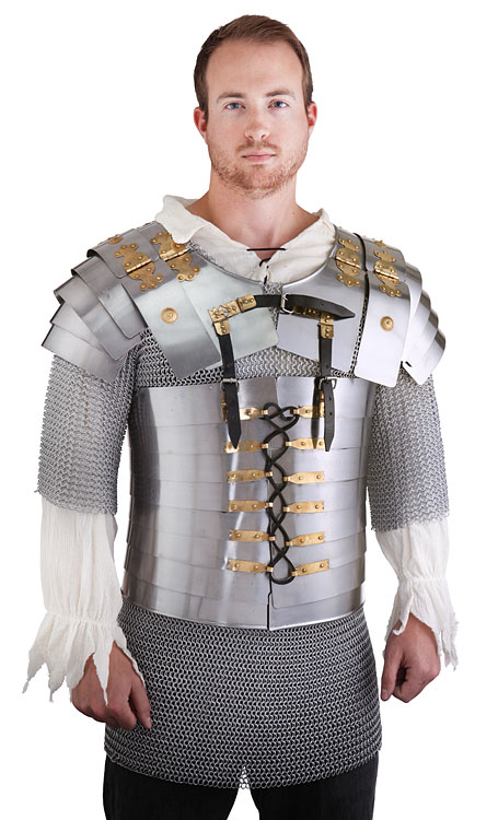 Metal Suit of Armor - 4-Piece Roman Legion Armor Set