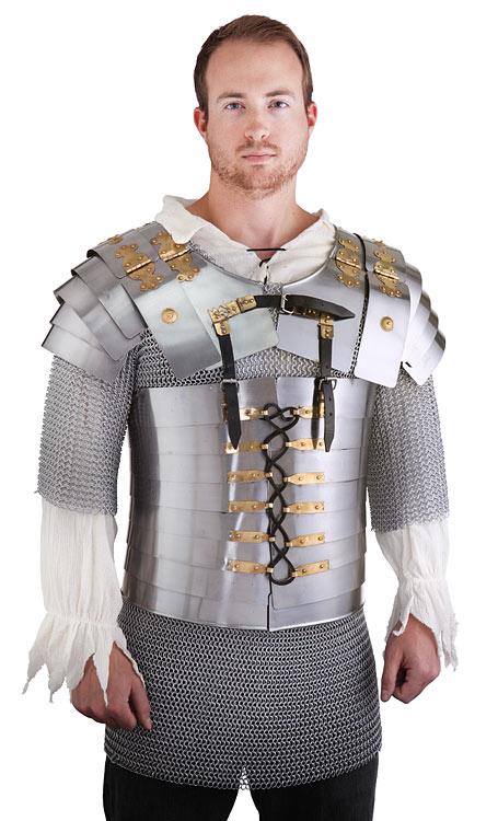 Metal Suit of Armor - 4-Piece Roman Legion Armor Set