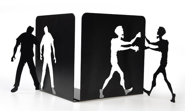 Metal Zombie Bookends