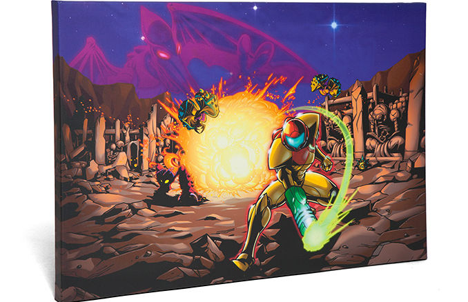 Metroid Explosions Exclusive Canvas Art