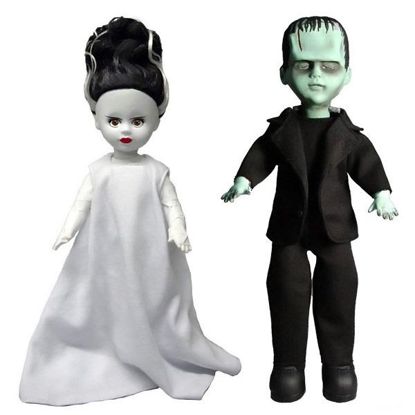 living dead dolls frankenstein and the bride doll set