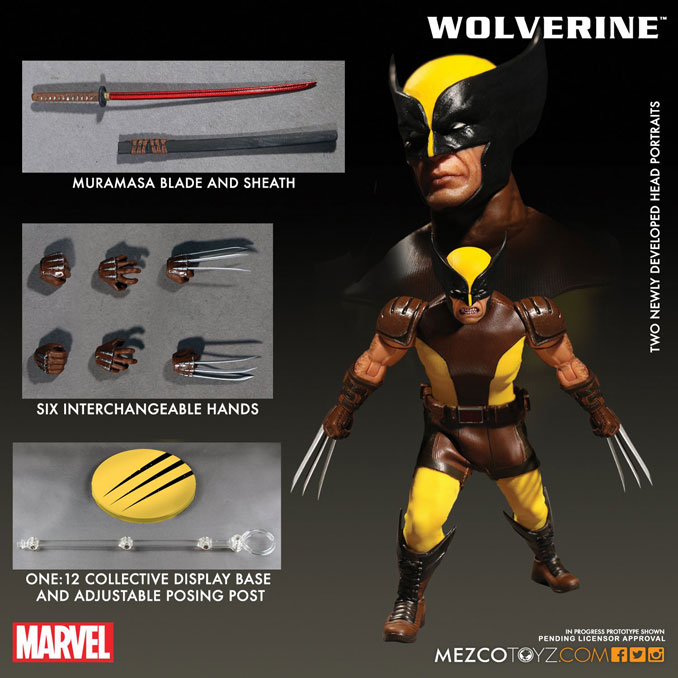 Mezco Wolverine One 12 Collective Action Figure