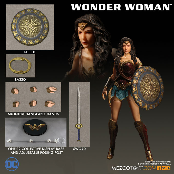 Mezco Wonder Woman Movie One 12 Collective Action Figure