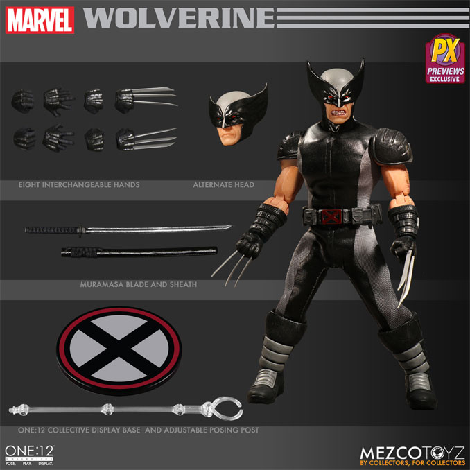 Mezco X-Force Wolverine One:12 Collective Action Figure