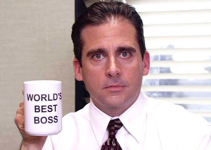 Michael Scott World's Best Boss Mug