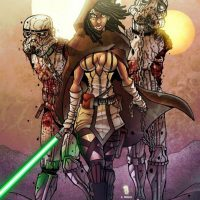 Michonne and Stormtrooper Zombie Art Print
