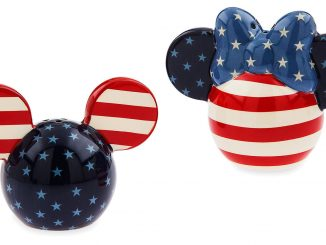 Mickey and Minnie Mouse Americana Salt and Pepper Shakers
