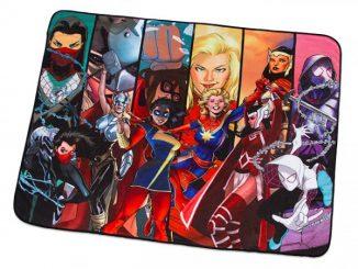 Mighty Heroines of Marvel Fleece Blanket