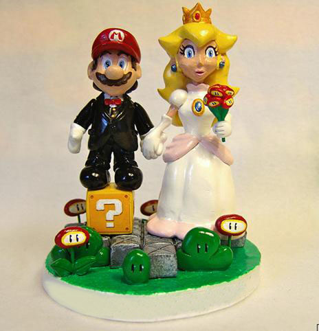 Custom Mii Wedding Cake Toppers | GeekAlerts