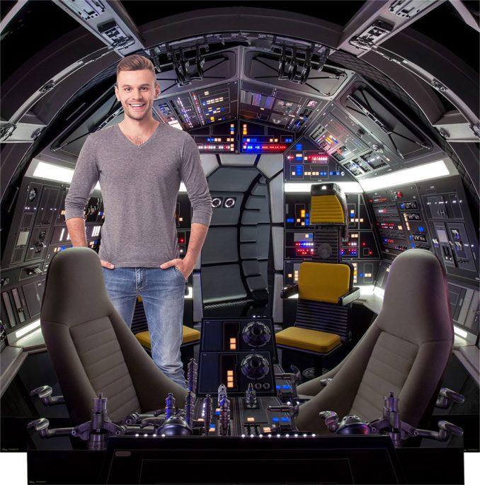 Millennium Falcon Cockpit Backdrop