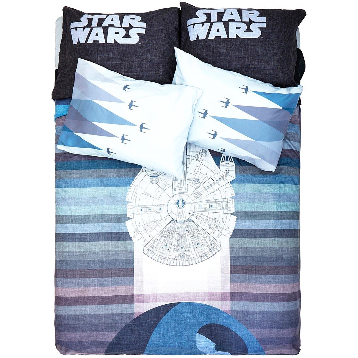 Millennium Falcon Duvet Cover & X-Wing Pillowcases
