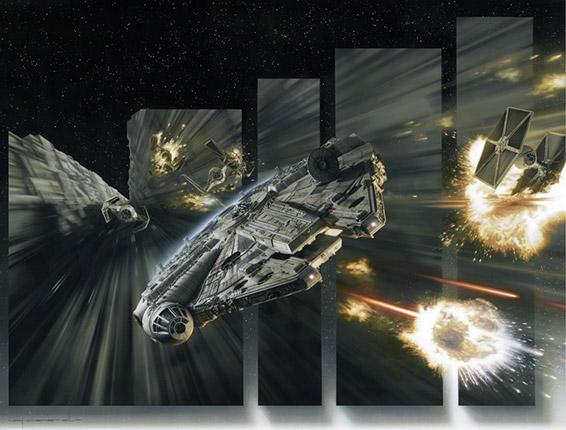 Millennium Falcon Tie Fighter Art