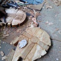 Millennium Falcon Wood