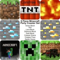 Minecraft 8 Piece Party Coaster Set