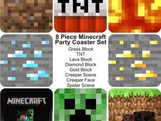 Minecraft 8 Piece Party Coaster Set