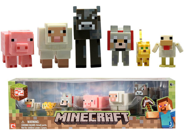 Cool Minecraft Toys : Minecraft core animal inch action figure pack