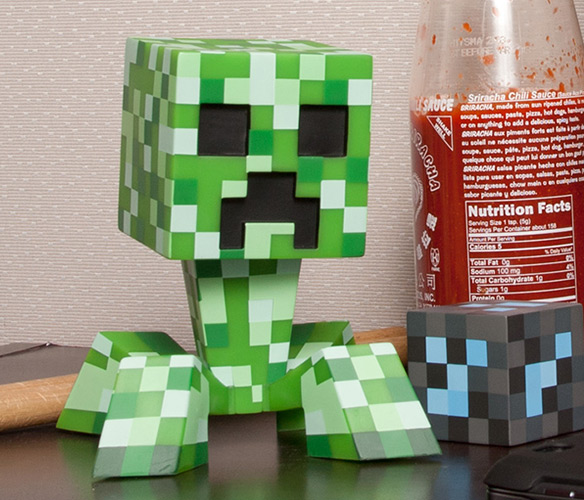 Pixelated Minecraft Creeper Vinyl