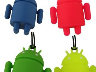 Mini Android Robot Keychain Straps 4 Pack