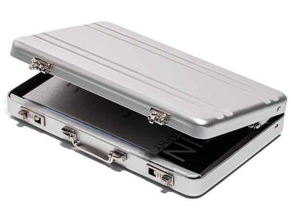 Mini Briefcase Business Card Holder