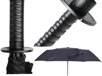 Mini Samurai Sword Black Ninja Folding Umbrella