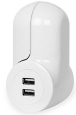 Mini Wall Plug USB Combo