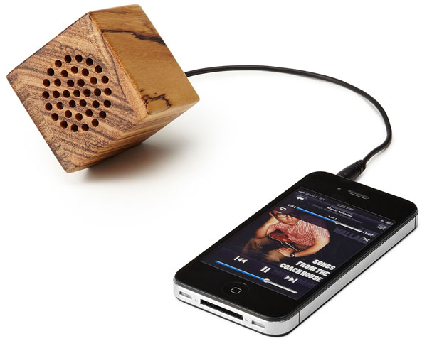 Mini Wooden iPhone Speaker