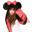 Minnie Mouse - Hooded Scarf and Mittens