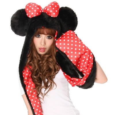 Minnie Mouse Hooded Scarf and Mittens Minnie Mouse Hooded Scarf and Mittens