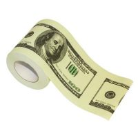 Money Toilet Paper 100 Dollar Bills