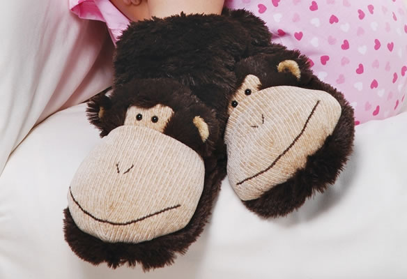 Monkey Slipper Socks