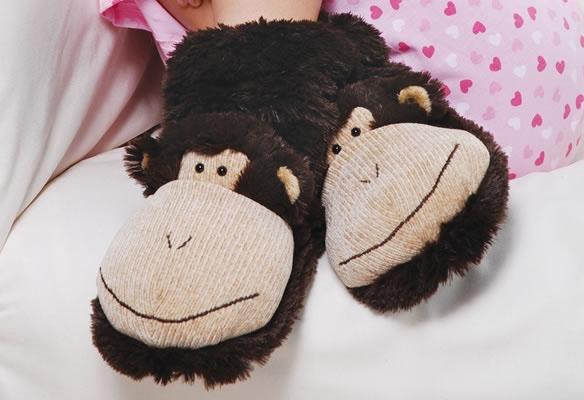 Monkey Slipper Socks