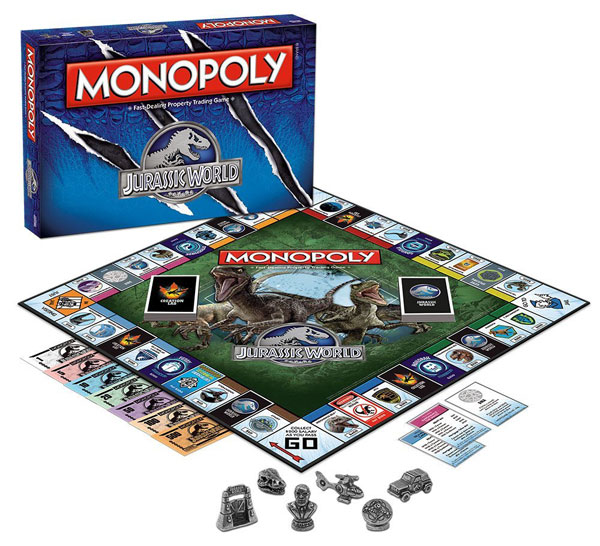 Monopoly Jurassic World Edition Board Game