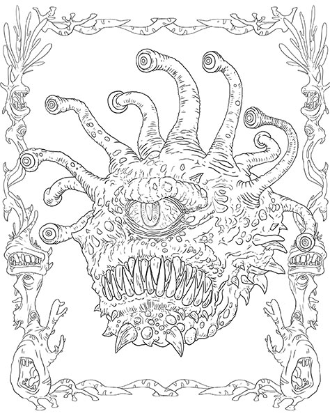 Monsters And Heroes Of The Realms A Dungeons Amp Dragons Coloring Book