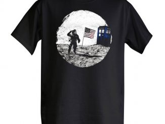 Moon Landing TARDIS Photobomb T-Shirt
